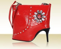 Free Shipping high-heeled shoes shaped shoulder handbag messenger bag