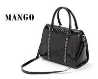 Vertical 2012 mang vintage metal decoration large capacity handbag check bag women's handbag