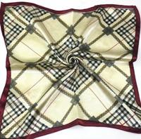 Supernova sale  printed pliad 50x50 cm  silk  square scarves/headband   airline hostess business  kerchief  free shipping