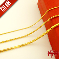 Freeshipping high quality Gold necklace male Women 24k necklace lovers 999 fine gold necklace gift  gold chain HOT SALE
