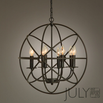 July rh vintage antique loft american pendant light europe style