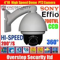 "CCTV Sony EFFIO 700TV Line IR Day/Night 10x 4""High-speed Dome PTZ Indoor Camera,PTZ CCTV Camera,PTZ speed Dome Indoor kamera"