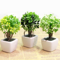 Fee shipping silk flower mini artificial tree with flower  vase pot  set home decoration pot culture