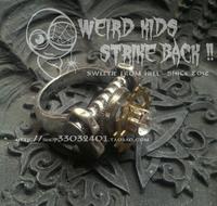 Steam punk gear screw mechanical rhinestone ring