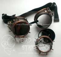 Handmade Steam punk gear bee goggles Cycling glasses