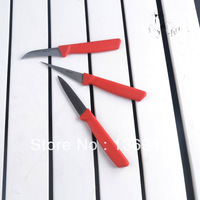 Free Shipping  Sharp 3 Pieces A Set Stainless Steel Kitchen Vegetable Fruit Carving Knife