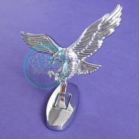 Free shipping, Basic car eagle metal emblem labeling personalized standard front motorcycle emblem refires