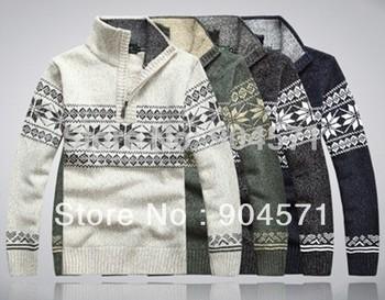 2014 Brand свитер Men кардиган Men's Pullover Stand Воротник Autumn -summer ...