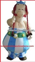 The smart Obelix mascot costume