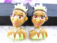 cute new arrival,20pcs/lot, Flat back resin princess for hair &cell phone deceration