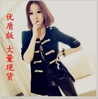 High-quality version of the 2013 women's clothing Hitz Napoleon gold buckle wool coat