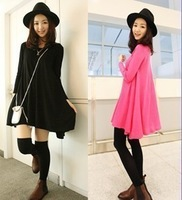 Women's clothing 2013 new knitted fabrics big base skirt hem two color into high-quality version