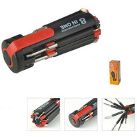 8 in 1 Multifunction Portable Screwdriver Combo with torch flashlight
