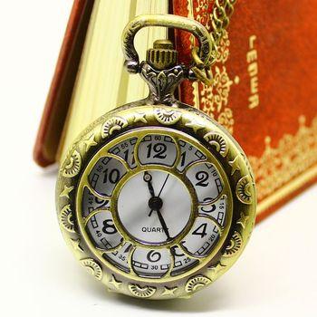 Hot Sale Medium Petals Cutout Antique Dress Watch Pocket Mechanical male women's vintage necklace Pendant