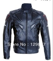 Free shipping 1Piece racer Brand motorcycle racing PU leather jackets with protection