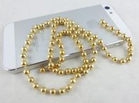 Free Shipping Hot Fashion Women MOQ 10 meter 4.0mm 18K Gold Bead Chain Ball Chain 1950 in.(50m) Dog Tag Keychain