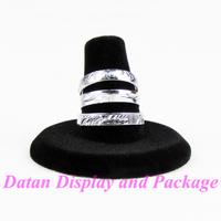 Wholesale 4 High Quality Black Velvet Ring Display Stand Holder