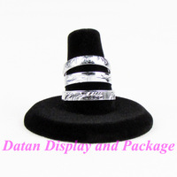 Wholesale 4 High Quality Black Velvet Ring Display Stand Holder