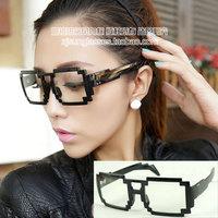Mosaic plain mirror the trend of black glasses 6