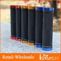 1 Pair Cycling LOCK-ON Bicycle BIKE HANDLEBAR BAR GRIPS NEW White / Blue / Red / Gold For Bicycle Road MTB BMX Bike Handlebar