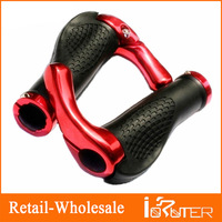 New Black Pair Rubber Bike Bicycle Cycling Lock-On Handlebar Grips + Bar Ends