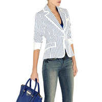 TOP quality 2013 women's fashion ol elegant formal stripe slim blazer outerwear female autumn