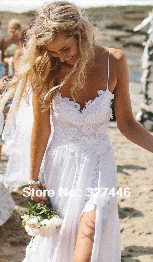 White Beach Wedding Dress Pinterest 18