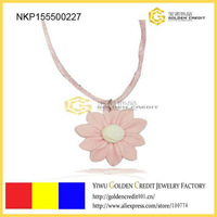 Free shipping Elegance design cotton flower necklace ,handmade flower necklace