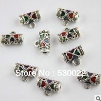5 * 10mm cloisonne pendant 925 sterling silver jewelry DIY accessories bracelet necklace wholesale ADS