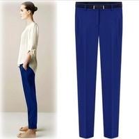 Suit pants female fashion solid color casual suit pants pencil pants slim all-match skinny pants
