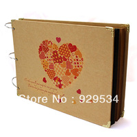 Free Shipping, 2013 South Korean Creative Love Senior Cardboard 10 Inch DIY Paste Type, Photo Album, Much Money, Three Buckle