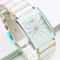Relogios luxury Reloj Brand White watch fashion jelly male women's lovers vintage rhinestone ceramic waterproof  cassio