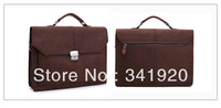 Free Shipping Wholesales 2013 original ancient crazy horse genuine leather man bag Retro Men's Business Casual shoulder bag