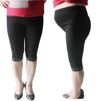 Plus Size XXXL Large Pants Cotton Adjustable Pregnant Leggings Wholesale Pantyhose High Quality High Waist Black Milk Legging