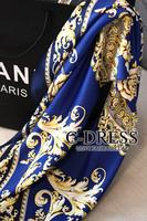 2013 high quality love sea high quality faux silk scarf vintage scarf squareinto x75