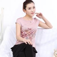 Mulberry silk knitted silk o-neck short-sleeve female t-shirt basic shirt top