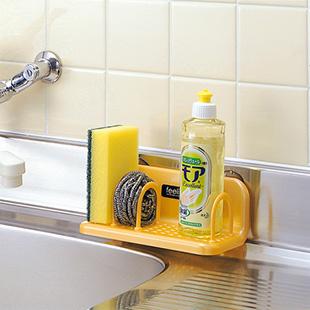 Shelf storage plastic bathroom sucker sink drain rack sponge holder bracket ($10 exempt postage)(China (Mainland))