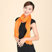 Spring and autumn female mulberry silk diamond solid color all-match scarf silk long silk scarf