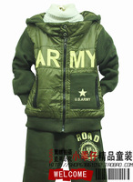 Free shipping new arrive Children's clothing camouflage set male child military special long-sleeve Camouflage cardigan set