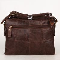 New Arrived Male Shoulder Bag  Fashion Casual Messenger Bags  Genuine Leather Men's  Vintage Bag