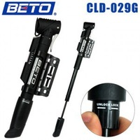 Free shipping -BETO 029G portable bicycle pump single stroke plastic telescopic Schedule riding equipment