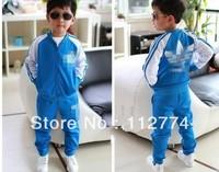HOT ! 2013 retail children clothing coat + pants Autumn and winter fashion boys girls kids suit clothes90--130