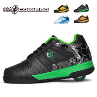 Adult child manual heelys roller shoes male Women shoes 1007