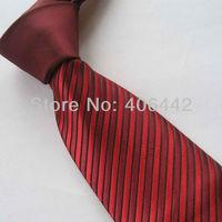 Yibei Coachella Mens Ties Burgundy Knot Contrast Black/Red Stripe Necktie Formal Neck tie For Men dress Party Fashion Tie