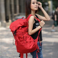 2013 Women red backpack travel bag backpack school bag large capacity outdoor male female laptop bag free shipping