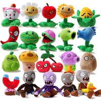 Full set plants vs . zoombies plush toy doll belt sucker gift