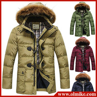 2013 Winter Super Warm Men's Fur Collar Long Down Jacket Fashion thicken Down Coat Winterwear White Duck Down Jackets S-XXL C531