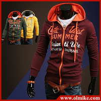 Promotion 2013 Fall Fashion New Men's cardigan Hoodies Sweatshirts Top Brand Sports Hoodies Clothing Men Zipper Korean slim C534
