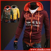 Promotion 2013 Fall Fashion New Men's cardigan Hoodies Sweatshirts Top Brand Sports Hoodies Clothing Men Zipper Korean slim C534