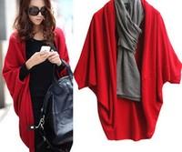 2013 women's cutout outerwear thin cape batwing sleeve shirt sweater cardigan FY139